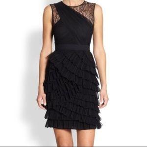 BCBGMaxAzria Jaya Formal Ruffled Dress Size 8